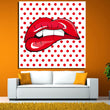 Andy warhol Oil Painting in Mouth Decoration Painting Home Decor On Canvas Modern Wall Art Canvas Print Poster Canvas Painting