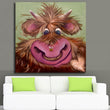 Big Size Paintings Wall Painting Color cartoon Cow Picture on Canvas Abstract Home Decor Animals Oil Painting Hang Pictures