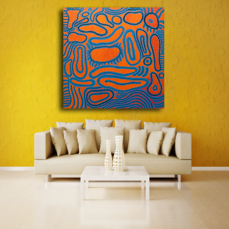Blue circle Abstract picture of Wall Painting Home Decorative Art ...