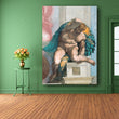 Canvas Art Classical Oil Painting Michelangelo Creation Of Adam Wall Pictures For Living Room free shipping