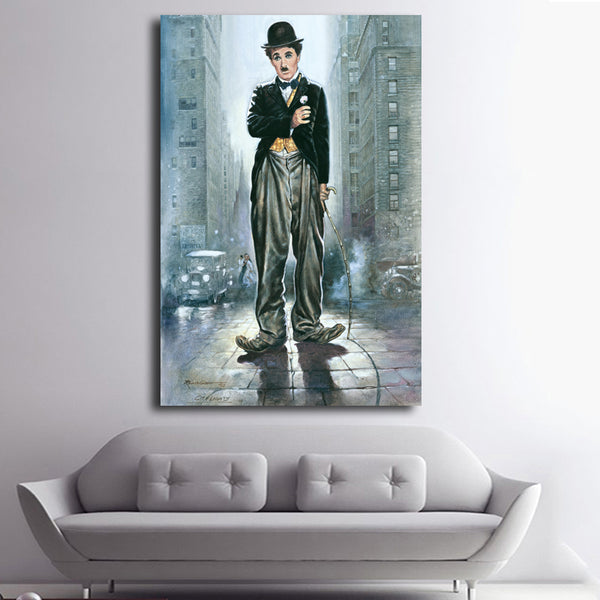 Charlie Chaplin Oil Painting Abstract Wall Art Painting Canvas Prints Wall Posters modern decorative art picture