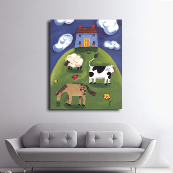Children Baby Bedroom Wall Decoration Cute Animal Cartoon Canvas Painting Art Print Poster Picture Wall Paintings Unframed