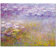 Claude Monet Famous Art Reproduction Purple Water Lilies Pond Landscape Wall Art Prints for Living Room home decoration Unframed