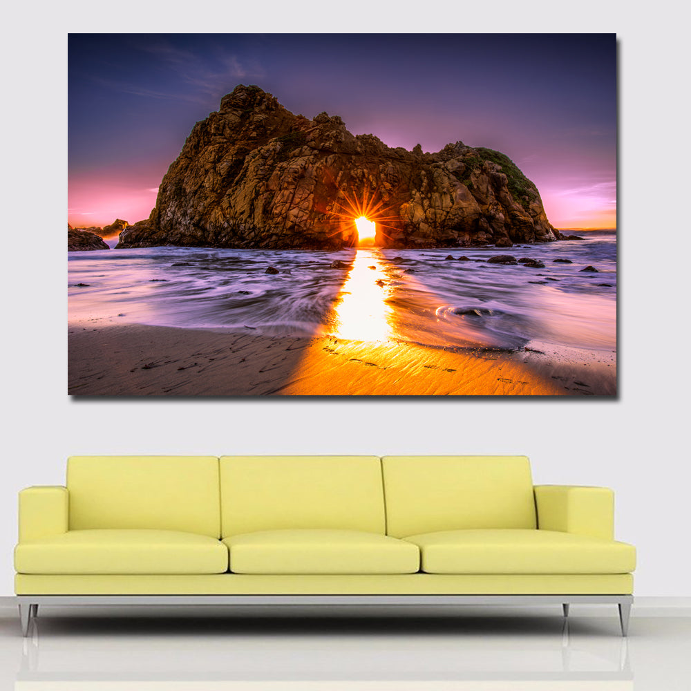 Coast beach sunrises and sunsets landscape printed on canvas prints posters home decoration modern wall art paintings unframed
