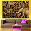 Elephant Family Pictures Paintings Abstract Wall Art Animal Canvas Print Arts Cuadros Decoracion Poster and Printed
