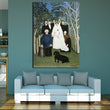 Famous Oil Painting By Rousseau The Wedding Party Canvas Prints for Wall Decoration Wall Sticker and Poster Art Prints Unframed