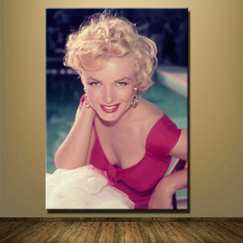Frameless Sexy Girl Marilyn Monroe Modern Canvas Mural Painting Antique Room Party parlors Cinema Wall Poster And Pictures Decor