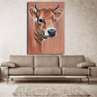 Free Shipping Skills Artist printed High Quality Abstract Animal Cow Oil Painting Pop Art Painting For Living Room Decoration