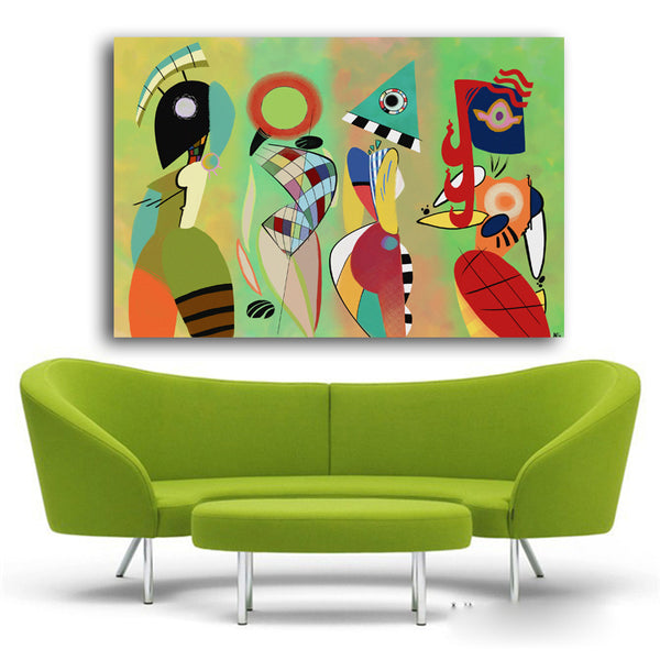 Modern Canvas Paintings Vasily Kandinsky Wall Art Abstract Oil Painting For Home Room Decorative Pictures Unframed