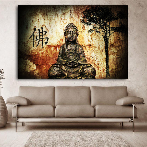 HD Buddha CANVAS printed Modern Unframed Painting Home Decoration Living Room Bedroom Decor Wall Fine Art