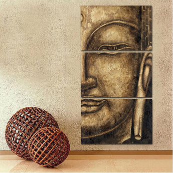 HD Printed 3 Pieces/Set Canvas Art Modular Painting Buddha Painting For Living Room Wall Art Print Modular Picture Unframed