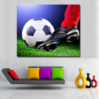 HD Printed Modern Football Ball Legs Athletic shoe Pictures Soccer Sport Wall Art Poster Home Decoration Canvas Painting