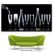 HD Printed Red Wine Champagne Wine Glass Painting Canvas Print Room decor print poster Picture Canvas free shipping