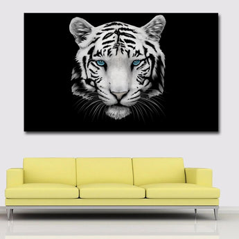 HD Prints Animal Painting Black And White Tiger Picture Printed On Canvas Wall Art Prints For Living Room Home Decoration