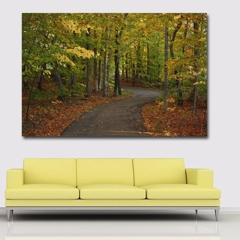 Hd prints canada parks autumn roads landscape oil painting wall art pa discount canvas prints