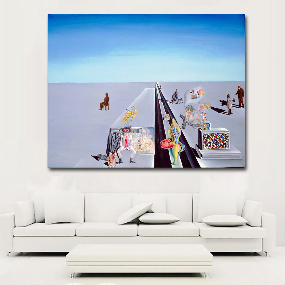 Hd Abstract Art Landscape Painting By Salvador Dali Wall Art Picture C Discount Canvas Print