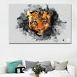 Hd Printed Art Animal Painting Leopards Head Glancing Picture Wall Art Canvas Painting Print Poster For Living Room Home Decor