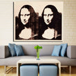 Home Decor Wall Art Canvas Painting Pictures andy warhol Decoration Classical double Mona Lisa Print Canvas Painting No Frame