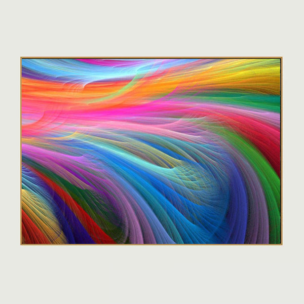 Home Decoration Modern Canvas Wall Art Colored Feathers Oil Painting Picture Print On Canvas For Bedroom No Frame