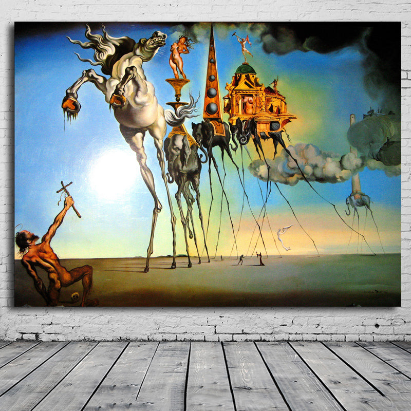 Hot Sall Salvador Dali Paintings Rose The Best Wallpaper Arts And Lite Discount Canvas Print