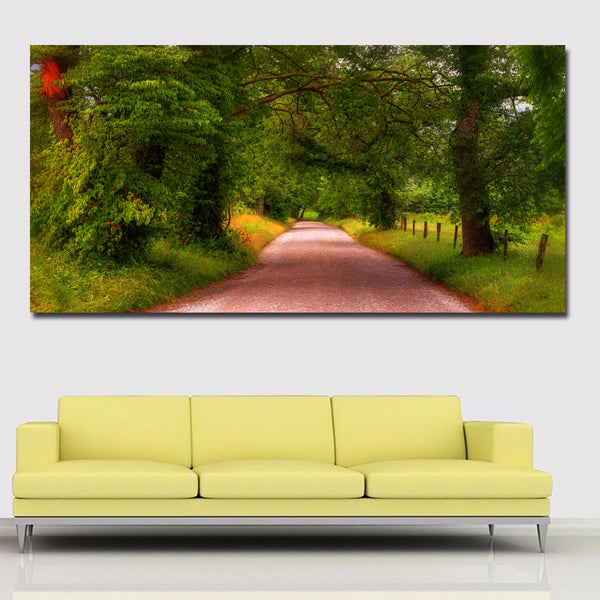 Large Size HD Prints Gree Trees And Roads Landscape Painting For Living Room Home Decor Modern Wall Art Prints Posters No framed
