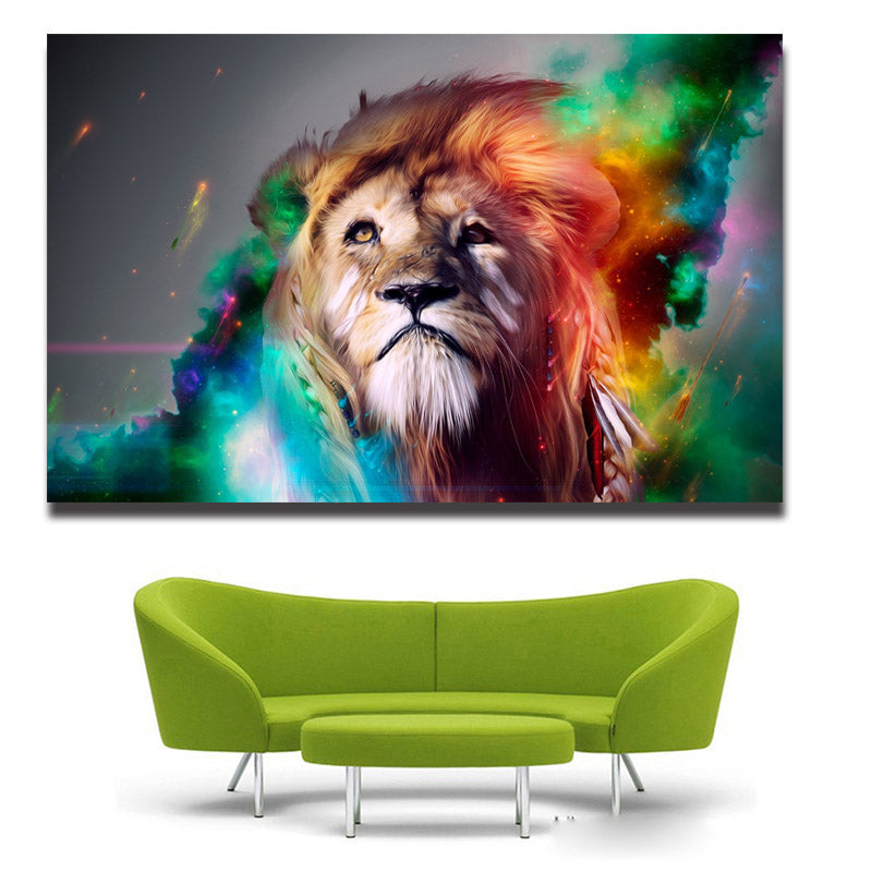 Lion King Abstract Paintings On Canvas Wall Pictures For Living Room Home Decor Art Print Free Shipping