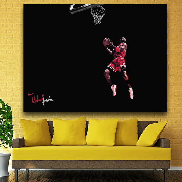 Michael Jordan Vintage Sports Star Poster Wall Paper Bar Art Home Decor Wall Picture Painting core Mix Order