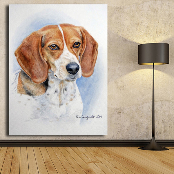 Modern Hotsell Print Oil Painting The Cute Beagle Wall painting Home Decorative Animal Wall Art Picture For Living Room No Frame