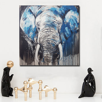 Modern Wild Animals Elephant Art Silk Fabric Poster Print Color blocks Africa Nature Picture Home Wall Decor