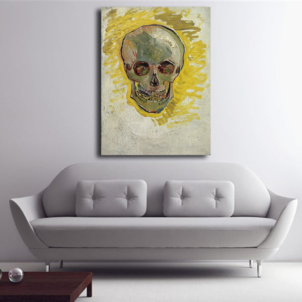 No Framed High Quality Canvas Art Cheap Wall Art Impressionist Abstract Skull Van Gogh Famous Paintings Reproductions Unframed