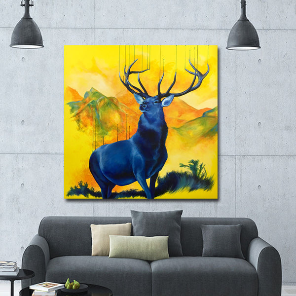 Nordic Style Canvas Art Print Poster,  Cartoon Deer Animal Wall Pictures for Home Decoration, Wall Art Decor