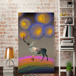 Nordic Style Cartoon Deer Painting Poster And Print Wall Art Canvas Painting For Living Room And Kid Room Home Decor Unframe