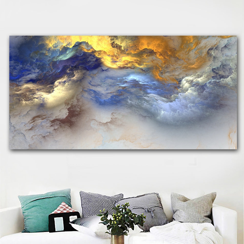Painting color cloud abstract art canvas wall art home on canvas original art landscape art abstract painting printed no framed