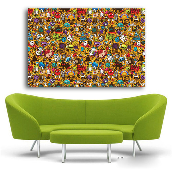 Pop Art Wall Stickers and Pictures Home Decor Modern Andy Warhol Canvas Paintings Art prints Of Abstract pictures Unframed