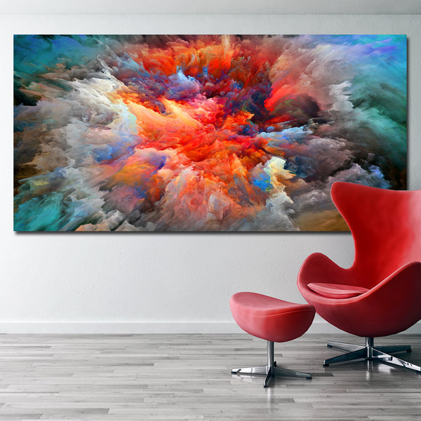 Posters And Prints Wall Art Colorful Abstract Picture Canvas Painting Wall Pictures For Living Room Decoration  Unframed