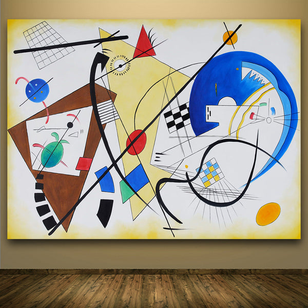 Print Oil Painting through going line by wassily kandinsky o Special Wall painting Pop Wall Art Picture For Living Room No Frame