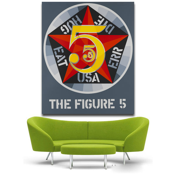 Robert Indiana Decade five Canvas Art Print painting Poster Wall Pictures for Home Decoration Wall decor free shipping