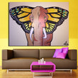 Room Canvas Print Modern Painting Large Canvas 1Pcs No Frame Elephant Butterfly wings Painting Canvas Wall Art Picture