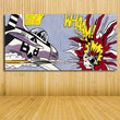 Roy Lichtenstein Pop Art Cartoon Oil painting M Maybe on canvas Wall Art Picture for living Room Art Books Boots free shipping