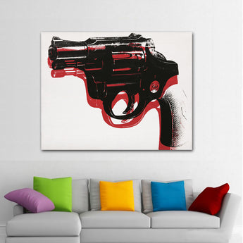 2018 Andy Warhol gun 1965 pop art print Wall Painting picture Home abstract Decorative Art Picture Prints