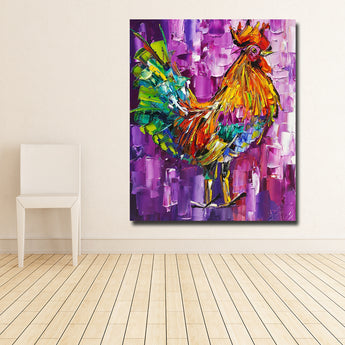Abstract Animal Painting Chicken Impression Painting Wall Pictures For Living Room Home Decor Canvas Art No Frame