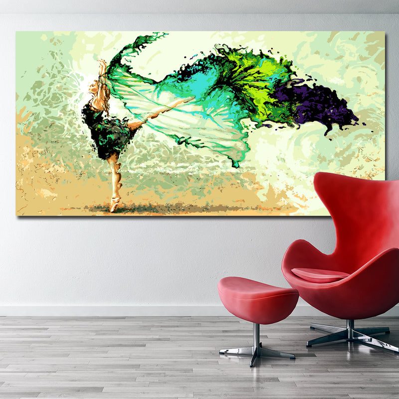 SELFLESSLY Abstract Dancing Girl Painting Modern Oil Painting ...