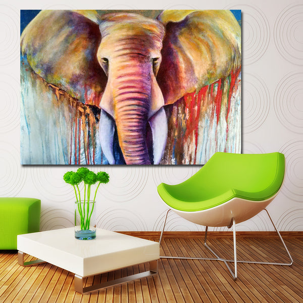 Abstract Fine Art Elephant Wall Art Print Canvas Painting Decoration For Living Room Decor Animal Picture Unframed