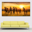 Animal Wall Art Pictures For Living Room Home Decor Canvas Painting Horses Sunrises and sunsets Art No Frame