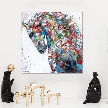 Animal Wall Art Pictures For Living Room Home Decor Canvas Painting The Colorful Horse head No Frame