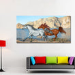 Animal Wall Art Pictures For Living Room Home Decor Canvas Painting Two Horses Painting Art No Frame