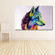 Colorful Wolf Head Painting Wall Art Prints Canvas Painting Decoration For Living Room Printing Poster Unframed