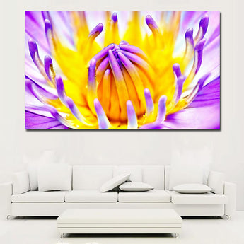 HD Printed Flower Lilac Nature Pastel Purple Yellow Canvas Painting prints and poster Picture Canvas Unframed