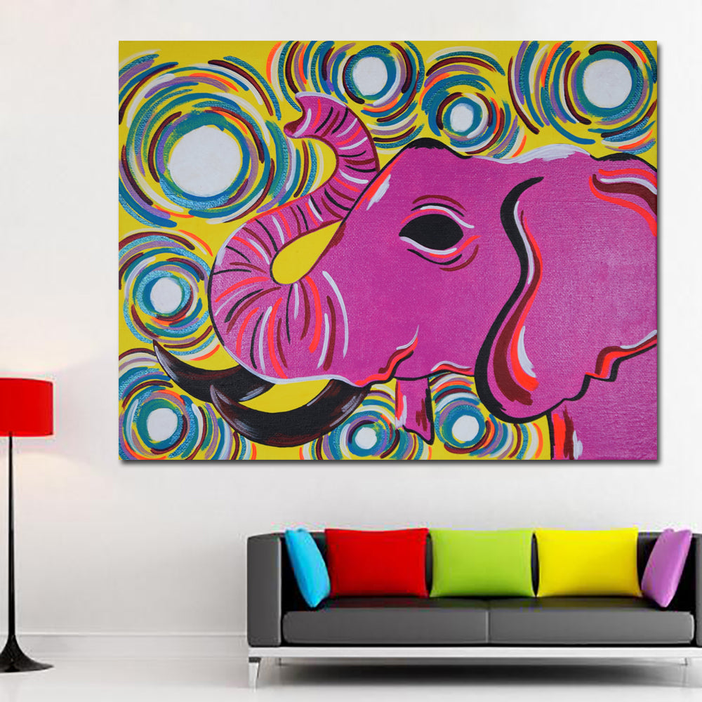 Pop art hd print india red elephant animal landscape oil painting on c discount canvas prints