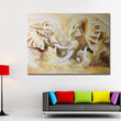 Print Abstract Africa Elephant Oil Painting on Canvas Modern Animal Wall Art Picture Poster For Living Room